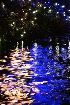 River sparkling with illuminations