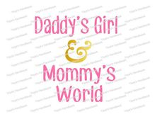 SVG Daddy's girl & Mommy's world Baby Onesie file