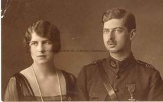 Carol II of Romania and his wife Helen of Greece and Denmark (who was known in Romania as Crown Princess Elena).