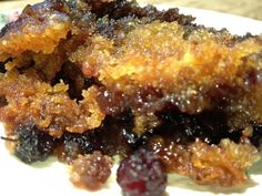 Mulberry Cobbler, for those crappy little berries that fall all over the place in spring.  Solid recipe- very sweet.