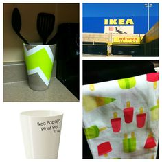 DIY Utensil Holder inspired by Popsicle dish towel.