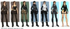 Tomb Raider: Underworld Lara Croft costume concepts by John Seamas Gallagher