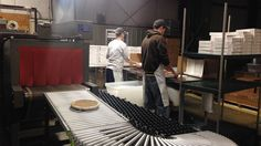 """A view inside the Kern's Kitchen factory in Louisville, Ky. Though lots of people in Kentucky have their own versions of what they call """"derby pie,"""" the Kern's family trademarked the name """"Derby-Pie"""" decades ago. And they are quite vigilant about protecting that brand name."""