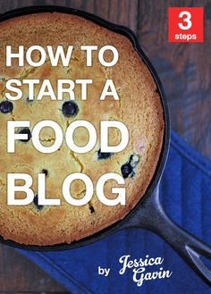 How to Start a Food Blog - Don't procrastinate any longer! Get your own blog up and running in 20 minutes with this easy to follow 3 step process. Your going to be glad you did :)