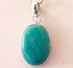 COPPER TURQUOISE CHARMING FASHION JEWELRY 925 SILVER OVERLAY PENDANT FOR HER #925silvercastle #Pendant