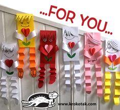 Valentine - My MartoKizza Valentine's Day Crafts For Kids, Valentine Crafts For Kids, Animal Crafts For Kids, Valentine Day Crafts, Holiday Crafts, Kids Diy, Crafts To Sell, Diy And Crafts, Arts And Crafts