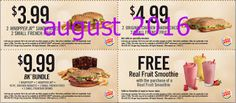 Free Printable Coupons: Burger King Coupons