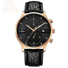 3eb03a7679c69 Cadisen Luxury Business Quartz Watch Genuine Leather