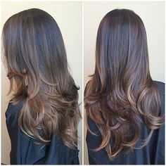 Mocha caramel melt! I used #chromatics by #redken for the first time and I loved it! 4M for her base. I used #shadeseq for her glaze 8gg gold rush. So rich! #seagrasssalonspa #modernsalon #americansalon #btcpics #colormelt