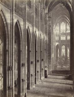 Louis-Auguste Bisson with Auguste Rosalie Bisson. Interior, Cathedral of Saint-Ouen, Rouen. c. 1855, albumen silver print