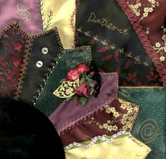 I ❤ crazy quilting & embroidery . . .  Victorian CQ Patience ~By Vicki Tobin