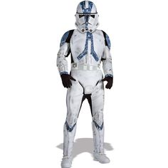 Star Wars Clone Trooper Deluxe Child Costume - Includes jumpsuit, belt and mask/helmet. Gloves and shoes not included. This is an officially licensed STAR WARS ™ costume. Medium.