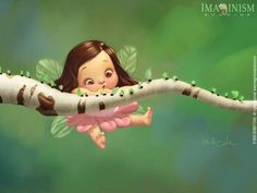 Cartoons Wallpaper: Cute Fairy