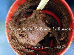 DIY Natural Cocoa Brunette Hair Colour Enhancer