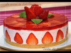 YouTube Party Sweets, Peruvian Recipes, Just Cakes, Strawberry Jelly, No Bake Pies, Healthy Sweets, Cake Recipes, Sweet Tooth, Cake Decorating