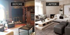 A Forgettable Family Room Gets a Sophisticated Second Chance  - HouseBeautiful.com