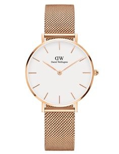 Daniel Wellington Classic Petite Melrose Bracelet Watch w/White Dial Daniel Wellington Classic Petite, Daniel Wellington Women, Stainless Steel Jewelry, Stainless Steel Watch, Style Preppy Chic, Relogio Casio Edifice, Ladies Dress Watches, Or Rose, Rose Gold