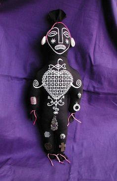 Erzulie Voodoo Hoodoo Art Doll Handsewn & by CREEPYSTUFF on Etsy, $32.00