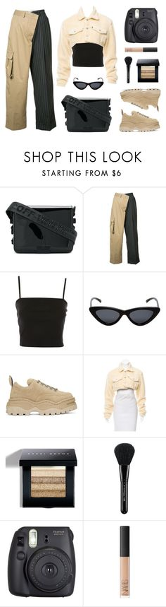 """""""Latte"""" by baludna ❤ liked on Polyvore featuring Off-White, Monse, Topshop, Le Specs, Eytys, Bobbi Brown Cosmetics, MAC Cosmetics, Fuji and NARS Cosmetics"""