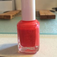 Essie nail polish in California Coral Only used a few times, beautiful color Essie Makeup