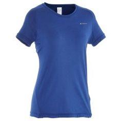 T-shirt montagna donna TECHFRESH 50 bluettte