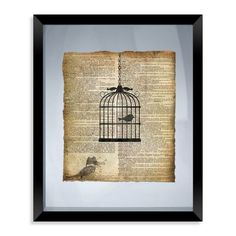Birdcage Framed Wall Art - Bed Bath & Beyond