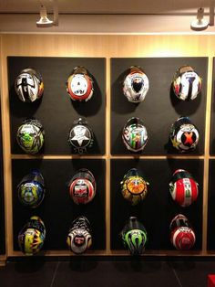 Loris Capirossi's MotoGP Helmet Display