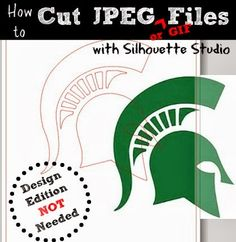 How to Cut a JPEG or GIF files with Silhouette Studio (for Free!) Click here for an easy to follow step by step tutorial #silhouette #Silhouetteamerica #tutorials www.silhouetteschool.blogspot.com