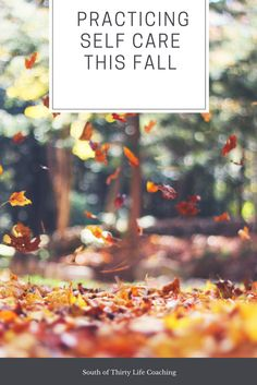 Make the most of your self care routine this fall as the weather gets colder and days get shorter!