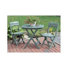 Folding Outdoor Bistro Set Chairs Table Porch Furniture Balcony Garden Portable  #Adams