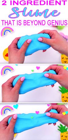 To Do When Bored 2 Ingredient Slime NO borax - NO glue! DIY slime recipe that you CAN make right now! Easy homemade slime that comes out similar to fluffy slime. The best slime kids activity and DIY project to do when bored or just to make slime! Upcycled Crafts, Crafts For Kids To Make, Easy Diy Crafts, Cool Crafts For Kids, Diy Crafts For Kids Easy, Kid Crafts, Creative Crafts, Preschool Crafts, Paper Crafts