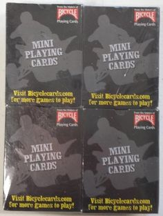 Mini Playing Cards ATV Design By Bicycle (Pack of 4) Bicycle,http://www.amazon.com/dp/B00EFC50BS/ref=cm_sw_r_pi_dp_6.Zdtb1S21TPEAG7