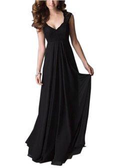 99c1673b05f Amazon.com  REPHYLLIS Women Sexy V Neck Vintage Cocktail Party Wedding  Bridesmaid Dress(