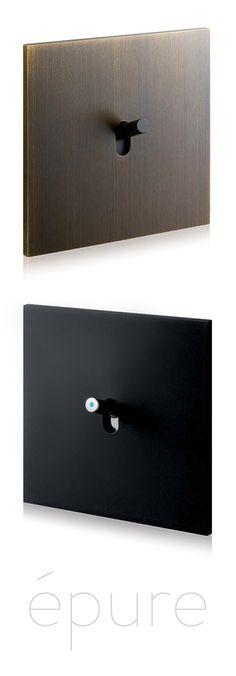 Art d'Arnould, Univers Épure Bronze et Épure Noir mat - Matière brute, pour rehausser un intérieur contemporain