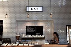 the bar at the end of the wharf - Studio R - full height tiles - illuminated…