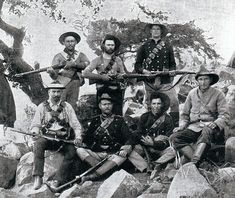 Boers with Mauser rifles bought from Germany: Battle of Magersfontein on December 1899 in the Boer War War Novels, War Photography, Defence Force, Modern Warfare, British Army, African History, Military History, World War Two, Old West