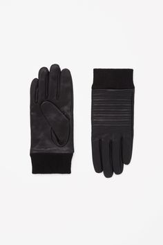 COS | Stitch-front leather gloves