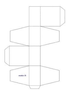Moldes para hacer Cajas de carton