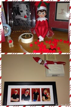 Our elves Homer Robert & Ann Marie... More fun with Pom poms and pictures!