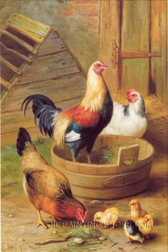 """Wall Art Decoration Ideas Old Oil Paintings Animal Pountry, Size: 24"""" x 36"""", $130. Url: http://www.oilpaintingshops.com/wall-art-decoration-ideas-old-oil-paintings-animal-pountry-3168.html"""