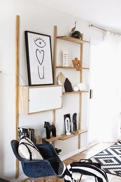 "This gives off an ""IKEA"" feel mainly because it is minimalist and simple having only what is necessary for supporting and to function as a shelf. It also has a plain color pallet with only max of two colors"