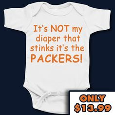 Chicago Bears Funny Cute Baby Onesie - Anti Packers For those who love Green Bay Packer jokes