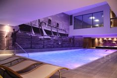 The pool at the Voyage Spa, Thurlestone Hotel