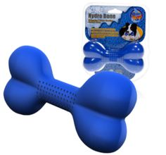 Hydro Bone Dog Toy Squirts Water to Cool Dogs Down. Freezable Dog Toy Too!