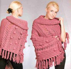Patrón #1374: Chal a Dos Agujas   CTejidas [Crochet y Dos Agujas]