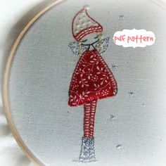 winter fairy embroidery pattern pdf