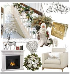 """I'm Dreaming of a White Christmas"" by clotheshawg ❤ liked on Polyvore"