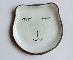 Bear spoon rest- ceramic spoonrest