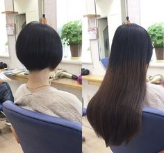 Before And After Haircut, Japanese Sexy, Long Hair Cuts, Pixies, Bobs, Short Hair Styles, Change, Beauty, Fashion