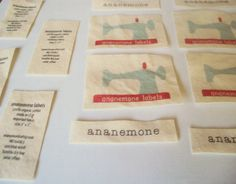Natural Fabric Labels - custom sewing labels, printed with your artwork, logo, or text on undyed 100% organic cotton $16